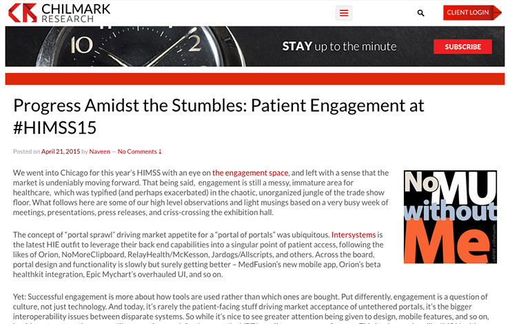 Progress Amidst the Stumbles: Patient Engagement at #HIMSS15