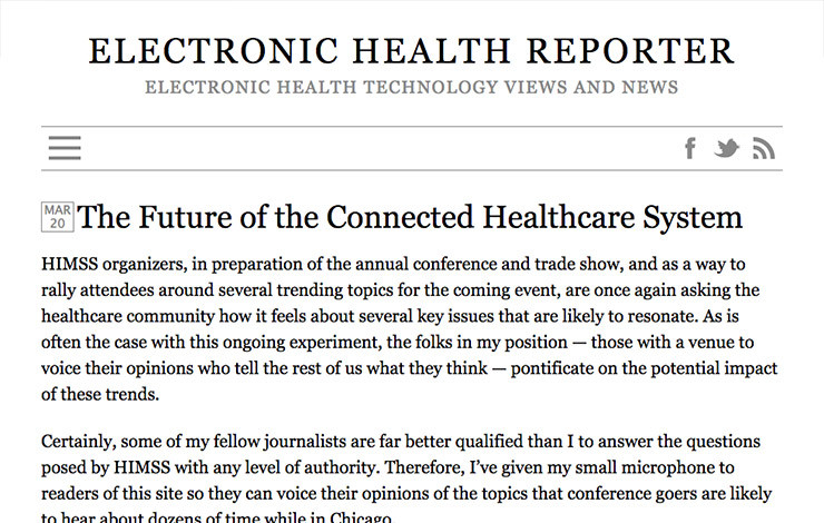 The Future of the Connected Healthcare System
