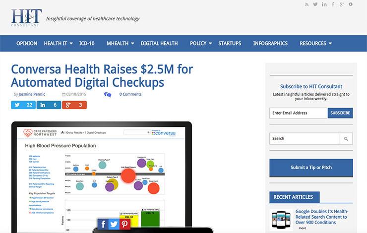 Conversa Health Raises $2.5M for Automated Digital Checkups