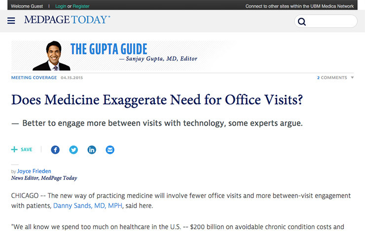 Does Medicine Exaggerate Need for Office Visits?