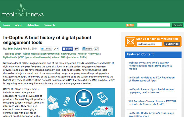In-Depth: A brief history of digital patient engagement tools