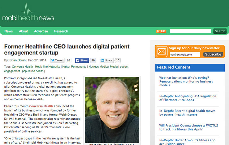 Former Healthline CEO launches digital patient engagement startup