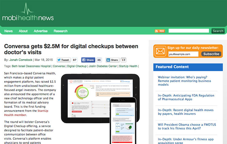 Conversa gets $2.5M for digital checkups between doctor's visits