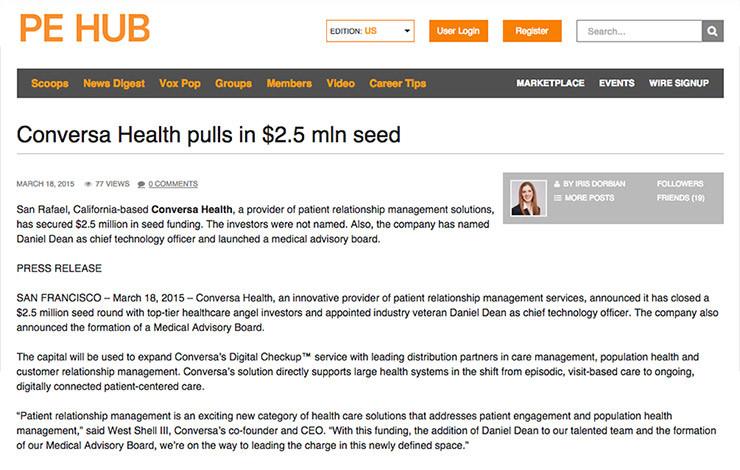Conversa Health pulls in $2.5 mln seed