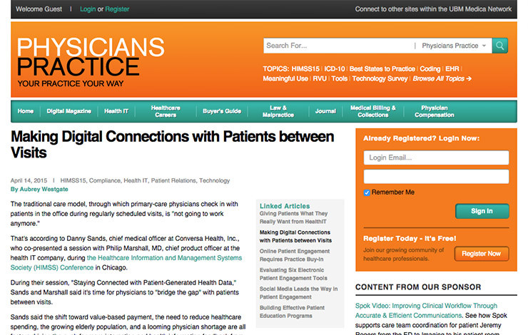 Making Digital Connections with Patients between Visits