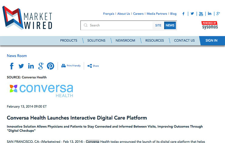 Conversa Health Launches Interactive Digital Care Platform