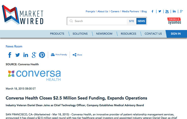 Conversa Health Closes $2.5 Million Seed Funding, Expands Operations