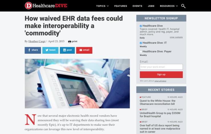 How waived EHR data fees could make interoperability a 'commodity'