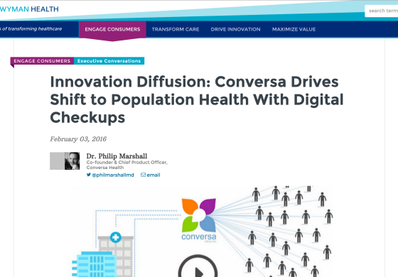 Innovation Diffusion: Conversa Drives Shift to Population Health With Digital Checkups
