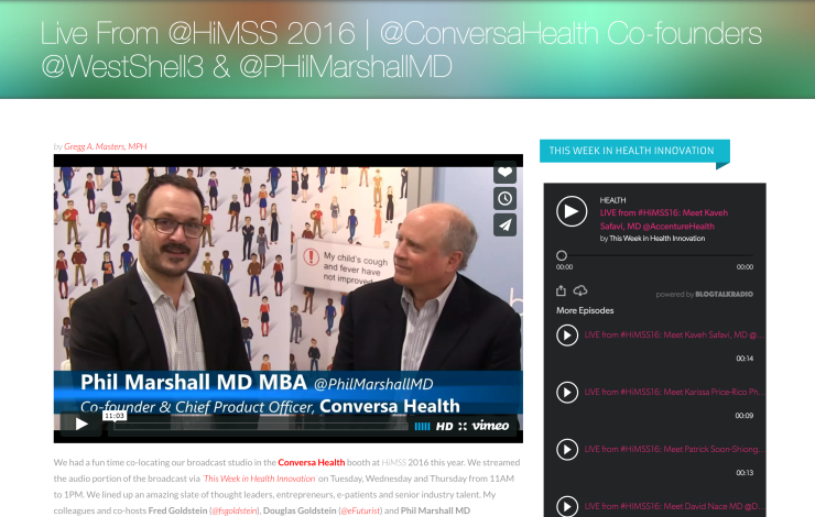 LIVE from #HiMSS16: Meet Conversa Health Co-founders: West Shell & Philip Marshall