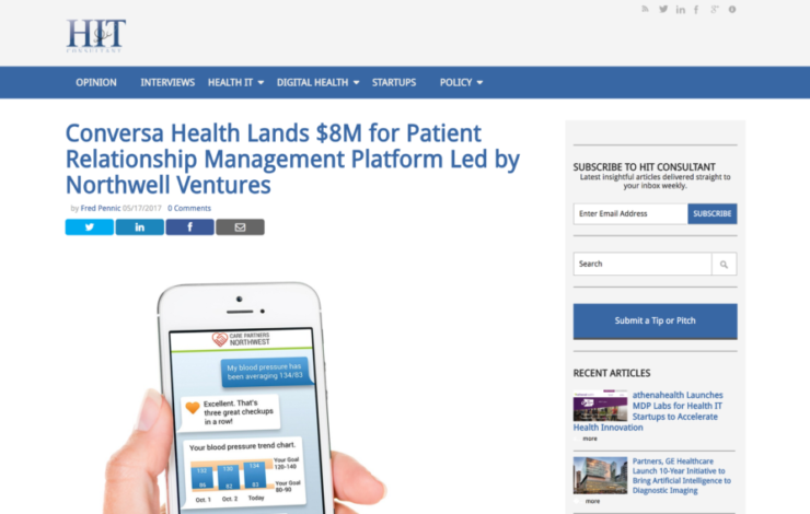 Conversa Health Lands $8M for Patient Relationship Management Platform Led by Northwell Ventures