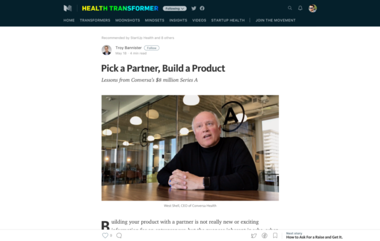Pick a Partner, Build a Product