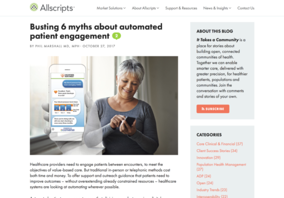 Busting 6 myths about automated patient engagement