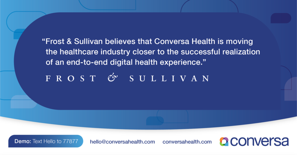 Frost & Sullivan Award for Market-Leading Patient Care Management