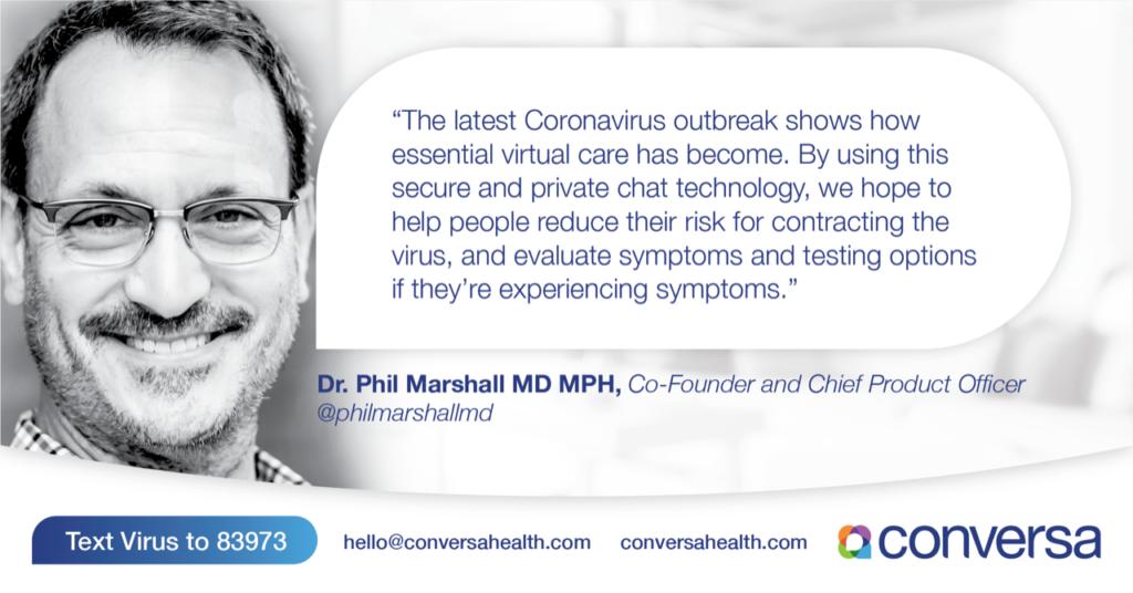 Coronavirus Virtual Care Using Secure Chat Technology