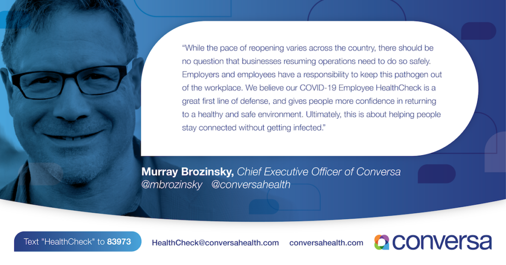 Conversa Health Launches COVID-19 Employee HealthCheck